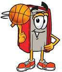 Clip Art Graphic of a Book Cartoon Character